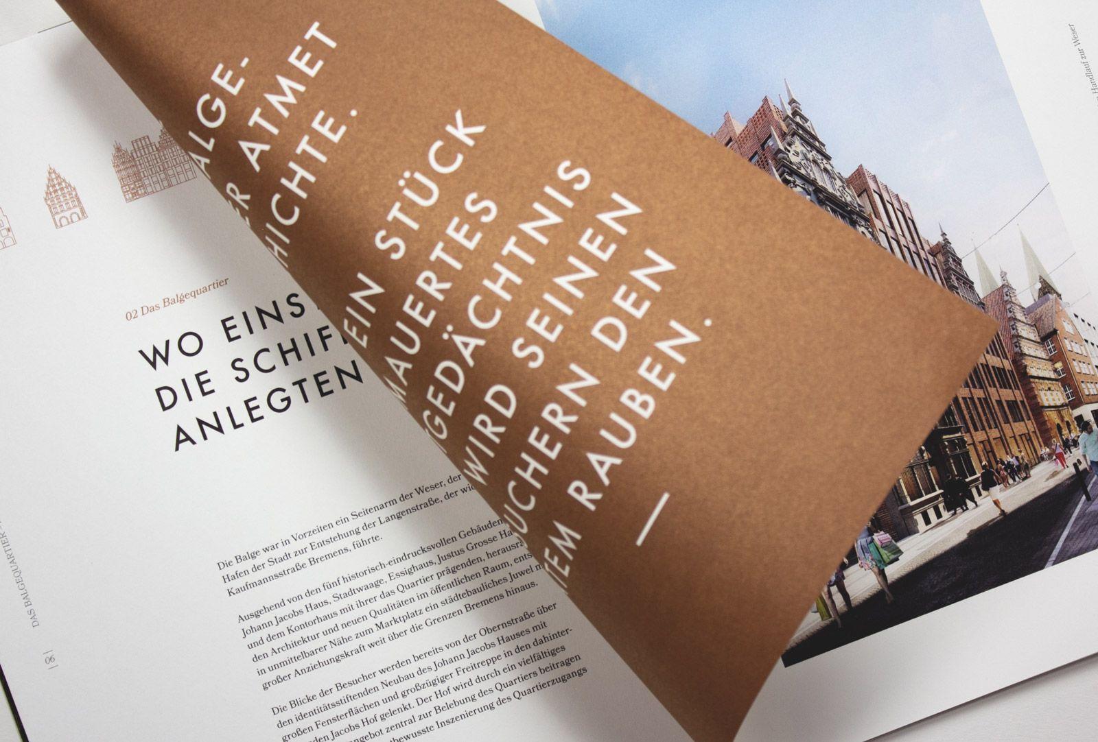 Balgequartier - Broschüre aufgeschlagen