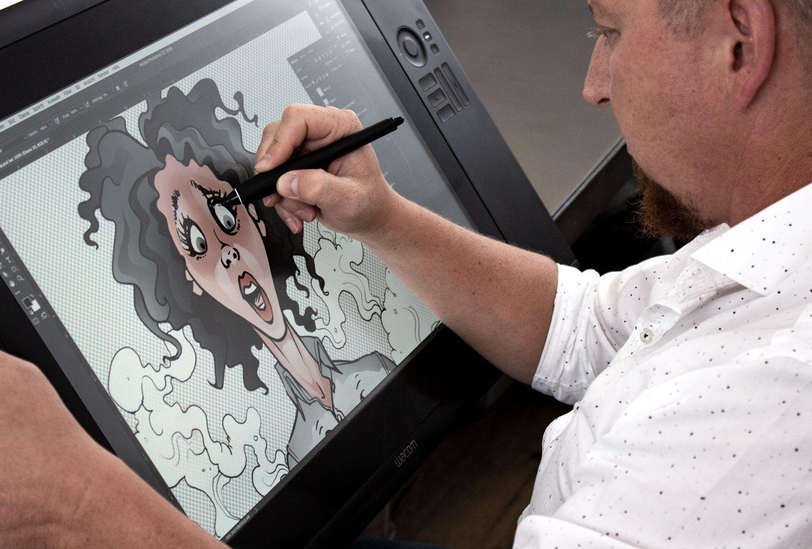 grow - Karikatur zeichnen